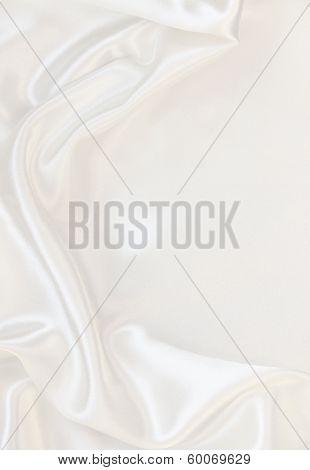 Smooth Elegant White Silk As Background