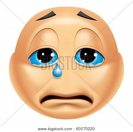 Emoticon Crying