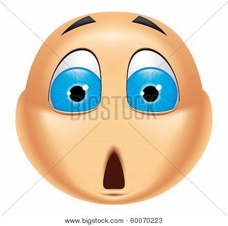 Emoticon Shocked