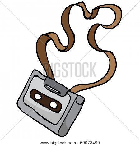 tangled audio cassette cartoon doodle