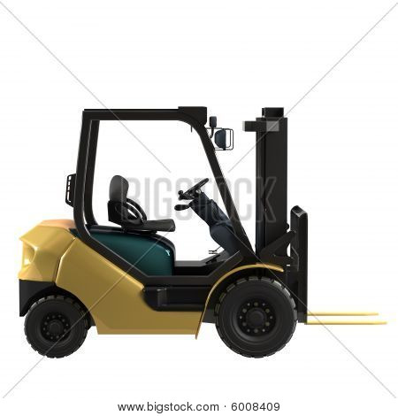 Isolated Industrial Forklift