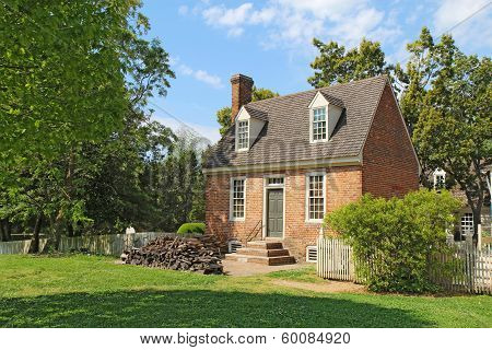 A Small Brick Building In Colonial Williamsburg, Virginia