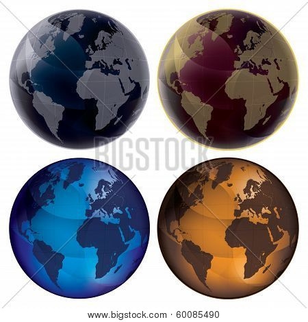 3D Globe - Color Set
