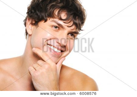 Handsome Happy Man With Clean-shaven Face