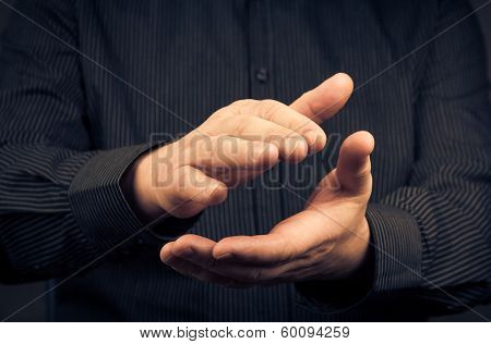Man Expressing Their Appreciation Clapping Hands