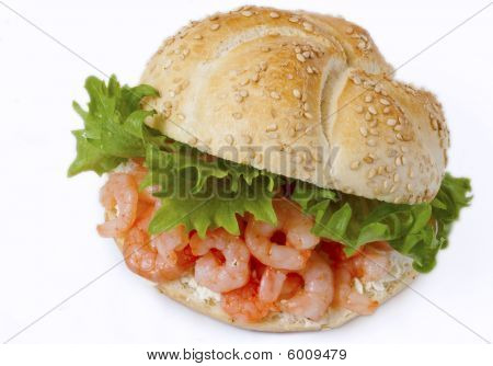 Healthy Shrimp Sandwich With Cream Cheese
