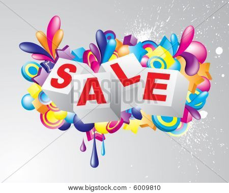 Colorful sale title