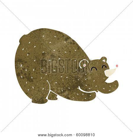 cartoon stretching bear