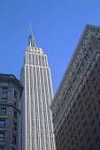 Empire State Building close up in New York
