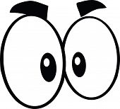 Black And White Mad Cartoon Eyes