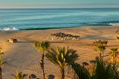 image of cortez  - Morning view of the Sea of Cortez and beach in Cabo San Lucas Mexico - JPG