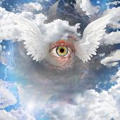 stock photo of illuminati  - Winged Eye Elements of this image furnished by NASA - JPG