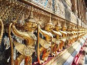 foto of garuda  - Golden Garuda in wat prakaew grand palace - JPG