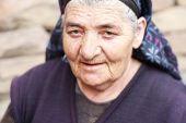 Elderly Woman With Piercing Gaze