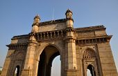 stock photo of british bombay  - Gateway of India is famous monument in Mumbai or Bombay - JPG