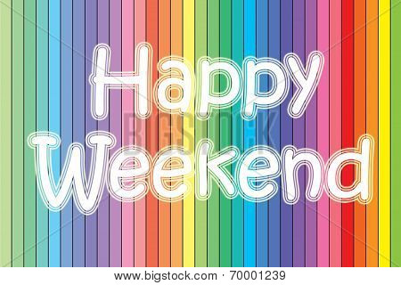 Happy Weekend Blackboard