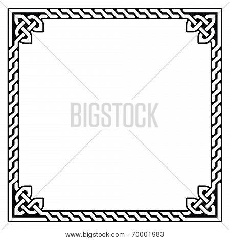 Celtic frame, border pattern - vector