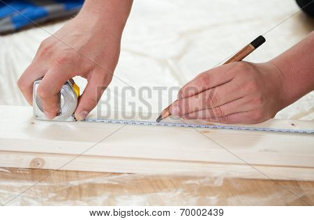 Man's Hands During Renovation
