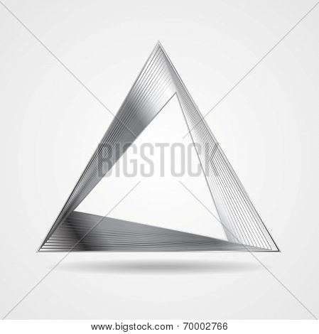 Abstract silver triangle logo vector design