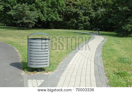 Dust Bin In Park