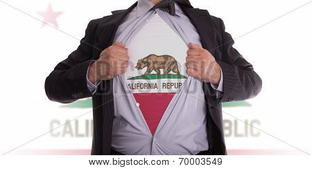 Businessman With California Flag T-shirt