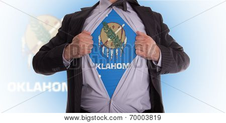 Businessman With Oklahoma Flag T-shirt