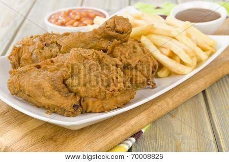 Fried Chicken & Chips