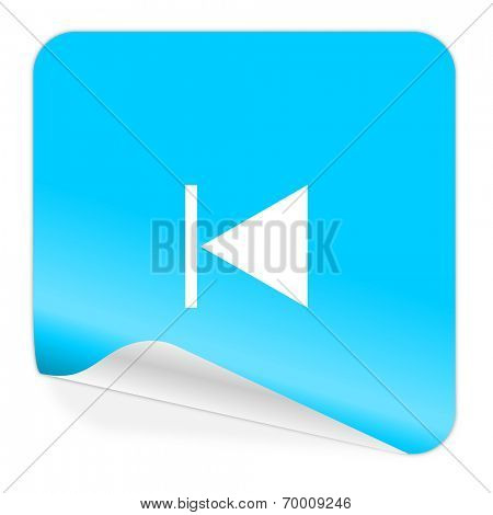 prev blue sticker icon