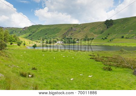 Watendlath Tarn Lake District Cumbria England between the Borrowdale and Thirlmere valleys close to
