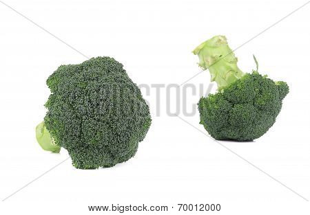 Fresh two broccoli.