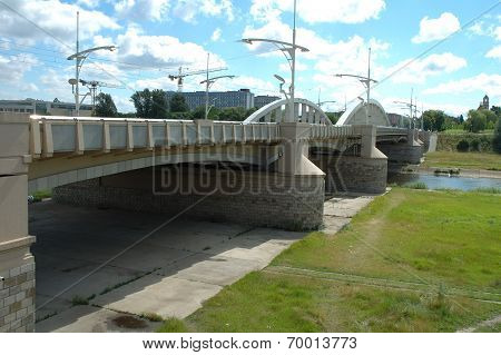 Rocha Bridge In Poznan