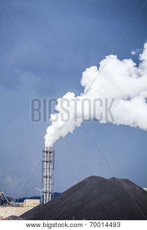 Fuming Chimney Of A Factory