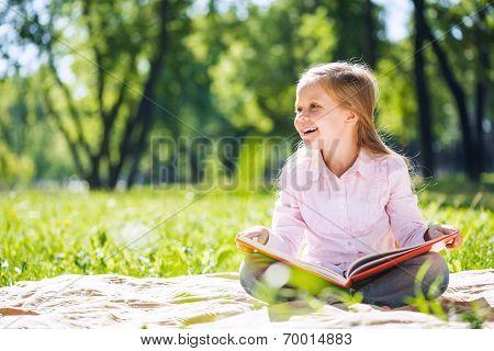 Sweet girl in park