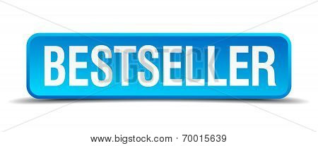 Bestseller Blue 3D Realistic Square Isolated Button