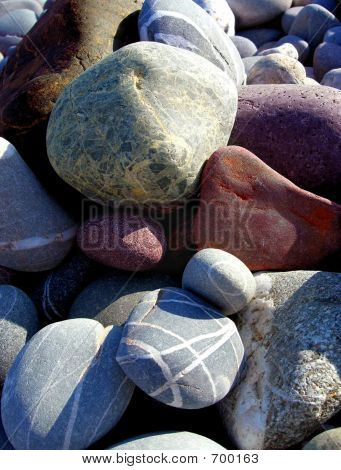 Red And Grey Pebbles