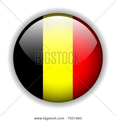 Belgium flag button, vector