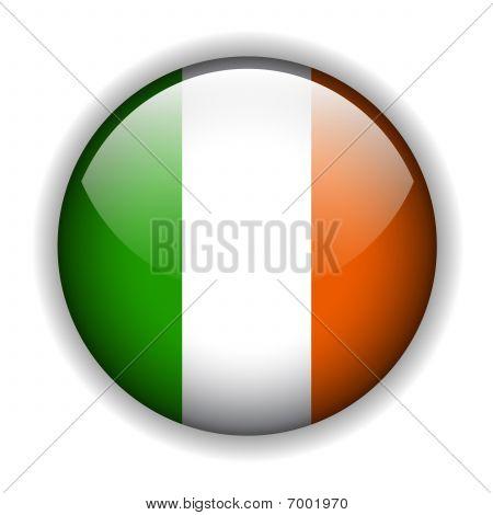 Ireland flag button, vector