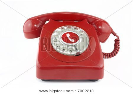 Old Red 1970's Telephone