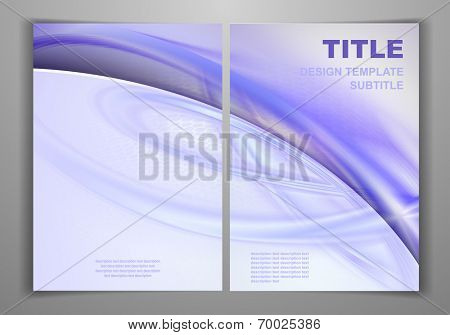 Blue Purple Business Front and Back Flyer Template