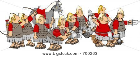 Group Of Roman Soldiers