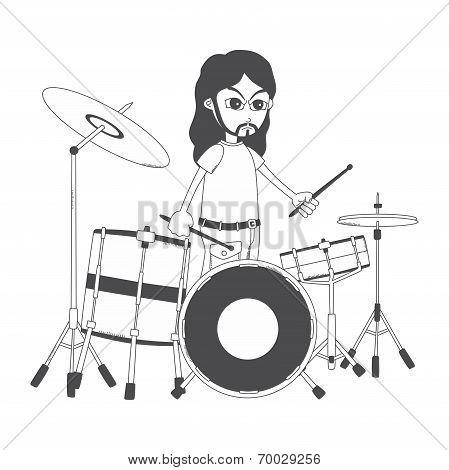 drummer cartoon character