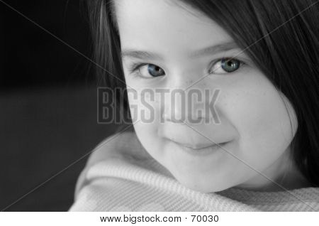 Children-B&W With Blue Eyes