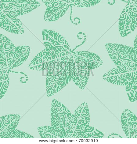Tribal tattoo. Ivy leaf