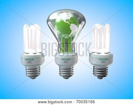 Earth Three Light Bulb