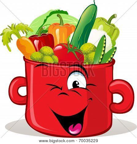 Pot Full Of Vegetable
