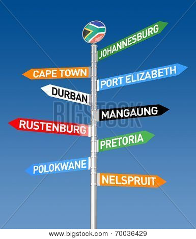 South Africa City Sign