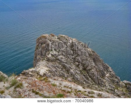 Nature Of Lake Baikal. The Point Of The Promontory
