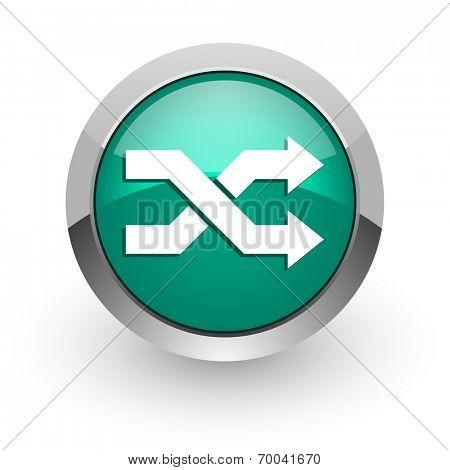 aleatory green glossy web icon