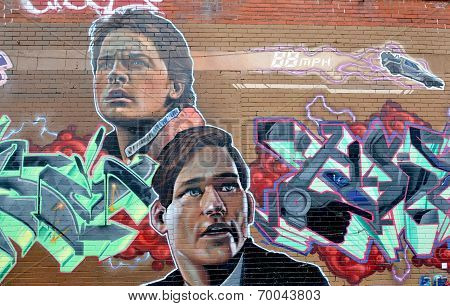 Street art Back to the future