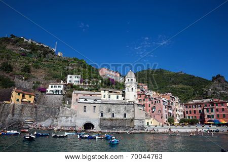 Vernazza Is A Town And Comune Located In The Province Of La Spezia, Liguria, Northwestern Italy. It